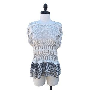 🛍Willow & Clay Anthropologie crocheted sweater